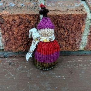 Hand Knit Wool Jolly Elf Decor